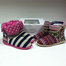 Steve Madden Melodiee Pink/Blue/White/Tan/Multi Booties Boots Slippers Shoes
