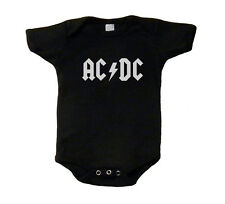 AC/DC ACDC Baby T-Shirt One Piece Romper Creeper Snap Tee