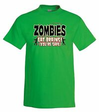 Zombies Eat Brains T-Shirt,zombies,halloween,tee,funny
