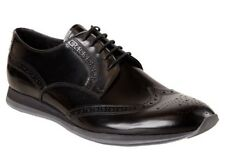 NIB MENS PRADA PERFORATED  BLACK WING TIP BLUCHER SHOES. ORG.$690