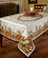 Thanksgiving Tablecloth Turkey Festivities