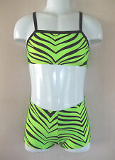 CHILD/TODDLER 2 Pc OUTFIT Booty Shorts & Top  ZEBRA PRINTS,12 Colors, gym, dance