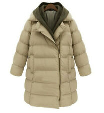 Winter Womens Cotton Blend Down Hooded Long Jacket Puffer Coat Parka Outwear New