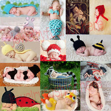 Baby Infant Newborn Animal Knit Costume Photography Prop Crochet Beanie Hat Cap