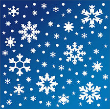 Snowflake, star vinyl stickers. 96 large Christmas shop window decorations XS10