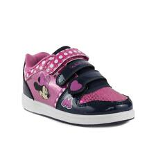 Minnie Mouse - Girls Navy and Pink Minnie Mouse Velcro Trainer