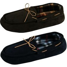 New Mens Slippers Moccasin Shoes Faux Suede Soft Warm Slip On Luxury Moccasins