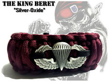 The BERET - Airborne Survival Bracelet - Silver-Ox Basic Airborne Wings