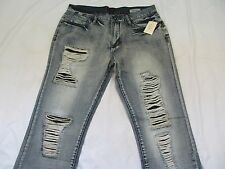 Guess Mens Jeans SLIM STRAIGHT Del Mar Fit PREMIUM DESTROYED Clearance New Nice