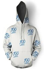 MEN SKY BLUE 100 EMOJI SWEAT HOODIE (PLEASE READ THE DESCRIPTION AND SAVE BIG)