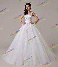New Starps White/Ivory A-Line Wedding Dress Bridal Gown Stock UK Size:6~16 lot