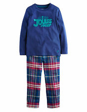 *BNWT* Joules Jnr Chantry Boys Pyjama Set - Navy Ambleside Check - NEW FOR AW14