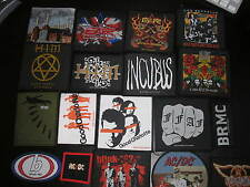 AC/DC GUNS N ROSES / BLINK 182  / FUNERAL FOR A FRIEND official woven patches