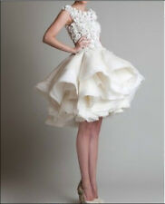 satin white/ivory new wedding dress in stock size 6 8 10 12 14 16