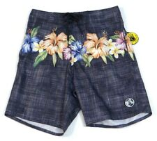 Body Glove Black Floral Quick Dry Boardshorts Swim Trunks Board Shorts Mens NWT