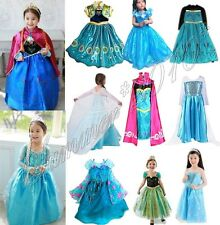 Kids Girls Dresses Elsa Anna costume Princess Party Fancy Dress 3-8 T Xmas Gift