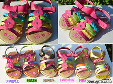 Cute Toddler Girl Sandals.Sizes 3 to 11.  Many Colors.