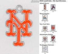 MLB team logo fobs (NL East), pewter-toned, various teams & keychain options