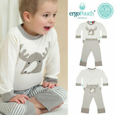 ergoPouch Bamboo Pyjamas Spring/Autumn, Moose Grey, size 6-12m to 4y