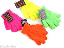 Neon Stretchy Woolly Magic Gloves for Girls or Boys