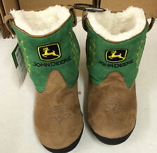 John Deere Green Cowboy Boot Slippers Youth Size LP51382/LP51383