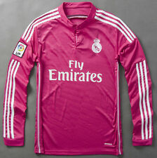 Real Madrid Home/Away 2014/2015 jersey James 10 Ronaldo Bale full sleeve Shirt