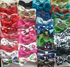 lot mix/small Bow Tie for Dog Cat Pet Necktie Neck Collar grooming Handmade