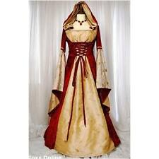 Ladies Womens British Gothic Classic Medieval Renaissance Gown Dress Maid Marion