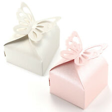 50 x Butterfly Wedding Bomboniere Favour Cake Cookie Lolly Candy Box