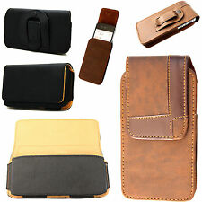 Stylish Leather Vertical/Horizontal Pouch Belt Clip Cover For Sony Xperia