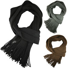 New Mens Scarf Winter Plain Wrap Soft Long Scarves Thin Warm Designer Style Gift