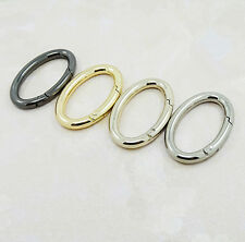 Snap Clip Trigger Spring Gate Oval Ring Keyring Buckle Bag Accessories Rings