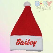 Personalised Embroidered Santa Baby Hat - Baby Gift
