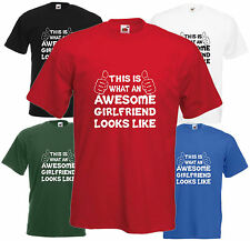 Awesome Girlfriend T Shirt Valentines Day Gift Xmas Present Cool Birthday Funny