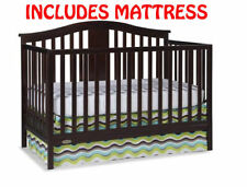 Convertible Crib Baby Infant Toddler Nursery Furniture Safety Certified NEW