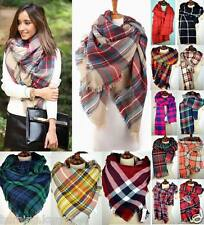 Warm Tartan Check Plaid Checked Scottish Reversible Shawl Scarf Wrap Stole