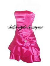 Chi Chi Dress Womens New Fuschia Puffball Broach  Cocktail  Party Evening  8-16