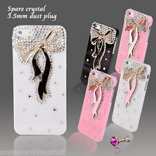 NEW 3D BLING DELUX WHITE PINK BLACK DIAMANTE SPARKLE CASE COVER FOR IPHONE 6 6s