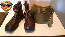 Kit of Swedish Army Combat Boots and Bag,RETRO,VINTAGE,Genuine, NEW