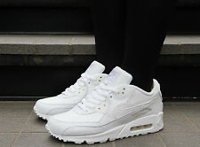 Nike Air Max 90 GS Grade School White Leather 307793-111 Running classics NIB QS