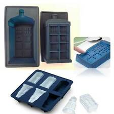 3D Dr Who Darlek Tartis Police Phone Box Silicone Mold Chocolate Ice Cake Jelly