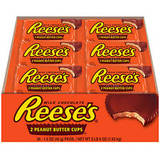 36 REESES BARS MILK CHOCOLATE PEANUTS BUTTER CUPS fresh FAST SHIP