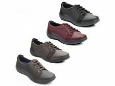 Padders SONNET Womens Ladies Leather Lace Up EEE/EEEE Extra Super Wide Fit Shoes