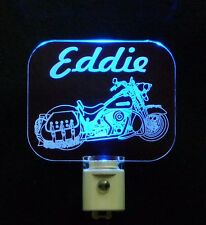 Personalized LED Motorcycle Night Light, Lamp, Man Cave, Handmade, Motorbike