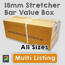 Canvas Stretcher Bars, Canvas Frames, Pine Wood Standard Bar 18mm - SOLD BY BOX