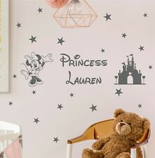 MINNIE MOUSE WALL DECAL Personalised name | Princess | KIDS STICKER ART | K16