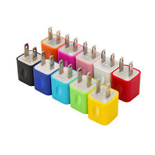 10PC Color Rainbow Bundle USB AC Travel Wall Home Charger Power Adapter 1000mAh