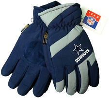 NEW! Navy & Gray Dallas Cowboys Warm Insulated Embroidered Gloves Leather Palm