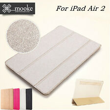 Mooke® Ultra-Slim Thin Leather Smart Case Cover for New iPad Air 2 / 6th Gen.