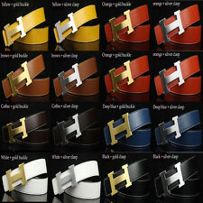 "Unisex Hot sell Fashion chic 20 color Leather ""H""Buckle Waist Belt Waistband"